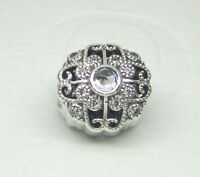 NEW Authentic Pandora Charms Bead Fairytale Bloom Clear 791961CZ