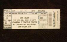 Van Halen Concert Ticket Stub Seattle 2004