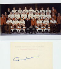 1968 Grenoble Olympics Ice Hockey Bronze RAY CADIEUX Orig Autograph from 1980s