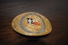 Texas Sesquicentenennial Commemorative 24K Gold Plated Belt Buckle 6047