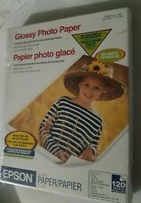 """Epson Glossy Photo Paper, - 120 Sheets - 8.5"""" x 11"""" - S041141 687814"""