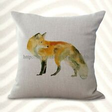 Us Seller-fox animal cushion cover decorative pillows discount