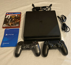 Barely Used! Sony PS4 PlayStation 4 Slim 500GB Console Bundle w/ 2 Controllers