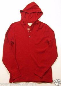 Denim & Supply Ralph Lauren Men's Red Waffle Knit Hooded Henley