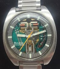 1979's Bulova Accutron Spaceview 214 Mens Wristwatch Stainless Steel Works Great