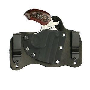 FoxX Leather & Kydex IWB Holster Bond Arms Snake Slayer 45 Colt/410 Black Right