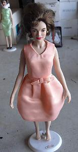 "RARE Franklin Mint Vinyl Jackie Kennedy in Beige Prototype Doll 15"" Tall LOOK"