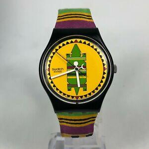 SWATCH Originals AG 1998 Vintage Aztec Navajo Colorful Analog Quartz Watch Rare