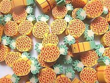 NEW!! PINEAPPLE POLYMER CLAY BEADS - YOU GET 50  SAME DAY P&P