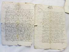 2 DOC MS 1682/1710 : DOT MARIAGE bourgeois de ROUMOULES (Alpes-Hautes-Provence)