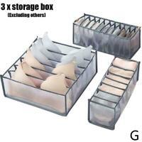 Foldable Underwear Storage Box Compartment Underpants Organizer Bra Drawer M4J1