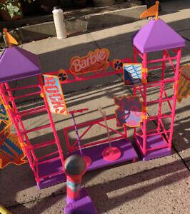 Barbie - Rappin Rocker Concert Stage Doll Playset  Mattel - V. RARE