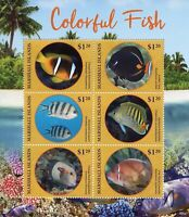 Marshall Islands 2019 MNH Colourful Fish Clownfish 6v M/S I Fishes Stamps