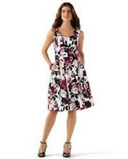 White house black market dress size 12 floral fit and flare