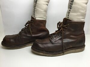 VTG MENS RED WING WORK BROWN BOOTS SIZE 10 D