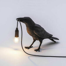 Bird Table Lamps Resin Crow Desk Lamp Bedroom Wall Sconce Light Fixtures AU