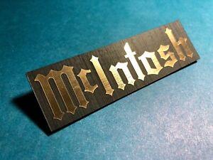 McIntosh Badge Logo Emblem