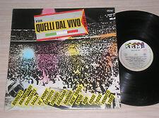 QUELLI DAL VIVO (VASCO ROSSI, FABRIZIO DE ANDRE') - 2 LP 33 GIRI ITALY