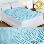 King Mattress Topper Gel Memory Foam Pad Comfort Orthopedic Bed Cover Firm 3