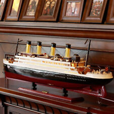 Titanic Model Wooden Sailboat Collectible Living Room Simulation Cruise Ship