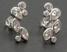 Butterfly Cubic Zirconia Stud Fine Earrings