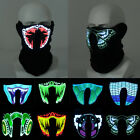 LED Flashing Face Mask Light Up Luminous For Halloween Party Costume Decoration