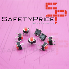 20x Pulsador Mini pulsador 6x6x5mm PCB ROJO TACTILE PUSH TOUCH SWITCH REF0552