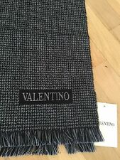 Valentino Scarf Christmas Gift Italy Gray Grey Unisex NWT AUTHENTIC JUST REDUCED