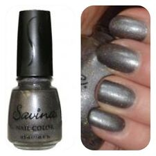 SAVINA CHARCOAL SPARKLE -S96164 Professional Nail Colour (18.5ml) New-  Freepost