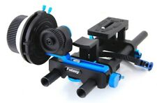 Follow Focus + Rail System Fotasy 15mm Rod Rig Base Plate with Quick Release
