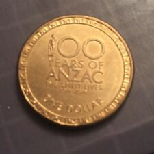 2014 AUSTRALIAN $1 ONE DOLLAR COIN - 100 YEARS OF ANZAC THE SPIRIT LIVES