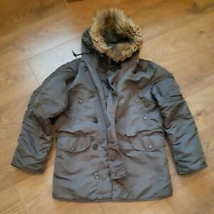 Vintage Alpha Industries N3b Parka Extreme Cold Weather size small mens