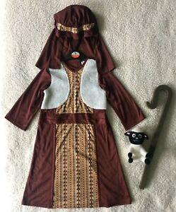 Shepherd/Joseph Outfit/Fancy Dress Up/Christmas Concert/School Play Costume 3-4