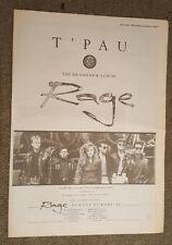 T'Pau Rage press advert Full page 30 x 42 cm mini poster