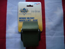 Military Rigger's Belt Olive Green New USA Made Medium Metal Buckle