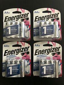 Energizer L91SBP-8 AA Ultimate Lithium 4 Packs, 32 Batteries Exp. Date 2040