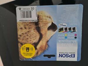 EPSON T0715 Cyan, Magenta, Yellow & Black Ink Cartridges Multipack NEW