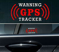4 X GPS Tracker Stickers Alarm Car Vehicle Security THEFT PROTECTION REVERSE +