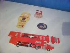 lot of 3 rare vintage coca-cola paper items and  a small round coca-cola mirror
