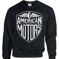 American Motors Sweatshirt Mens Womens Biker Rock distressed Motorcycle jumper