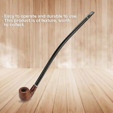 Durable Long Wooden Wood Modern Tobacco Smoking Pipe Churchwarden W/ Long Handle