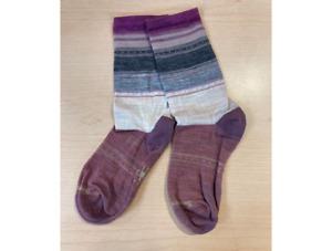 Smartwool Women's Sulawesi Stripe Crew Socks Moonbeam Size M 7-9.5