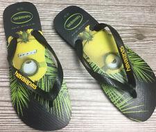 Havaianas Minions Flip Flops - Unisex M(9/10), W(11/12) - Yellow/Black NEW