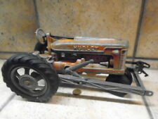 Vintage 1950's Hubley Red Farm Tractor Lancaster Pa. Metal Die-Cast Nice Patina