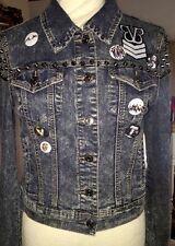 Metal Spiked Jean trucker Jacket Acid Washed Custom BVB AA BMTH BC Letlive OOAK