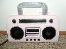 NWT Kate Spade New York Jazz Things Up Boom Box Adelina Leather Clutch Bag NEW