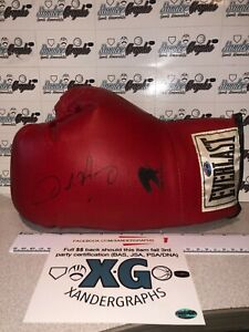 OSCAR DE LA HOYA SIGNED AUTOGRAPHED EVERLAST BOXING RED GLOVE-EXACT PROOF COA