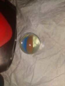 Rare Extra Color Ghost Vane Cats Eyes Marbles Multi Colored Small Pontil Mark