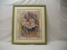 "Home Interior Homco Beautiful""Hummingbir d Wall Garden""Flower Basket"" Picture""Ds"""