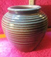Karlsruher Majolika-Vase, 50er-Jahre- Original aus der Zeit